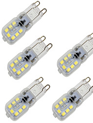 abordables -BRELONG® 5pcs 4W 350lm G9 Ampoules Maïs LED T 14 Perles LED SMD 2835 Intensité Réglable Décorative Blanc Chaud Blanc Froid 200-240V
