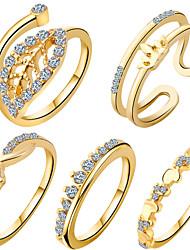 preiswerte -Damen Schmuckset Ring Geometrisch Einzigartiges Design Liebe Herz Modisch bezaubernd Europäisch Zirkon Kubikzirkonia Kupfer Anderen
