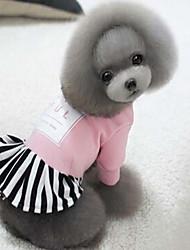 abordables -Perro Abrigos Ropa para Perro Un Color Negro Rojo Rosa Tejido de Seda Algodón Disfraz Para mascotas Hombre Mujer Deportes