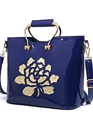 Women Bags All Seasons Patent Leather Tote Rivet for Event/Party Formal Outdoor Office & Career Blue Black Red