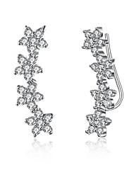 Kvadratisk Zirconium Stangøreringe Smykker Bryllup Fest Halloween Daglig Afslappet Sølv Zirkonium 1 par Sølv