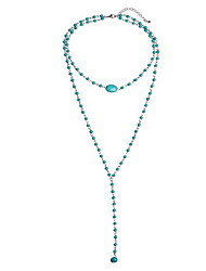 cheap -Women's Euramerican Fashion Multi Layer European Pendant Necklace Turquoise Alloy Pendant Necklace , Birthday Daily