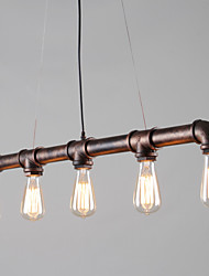 Vintage Industrial Pipe Pendant Lights Creative Lights Restaurant Café Decoration lighting With 5 Light Painted Finish