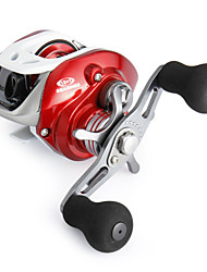 cheap -Super Casting Low Profile 12+1 BB Baitcasting Left-handed Fishing Reel (Red)