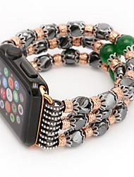 cheap -Jade Agate Pearl Beads Strap Handmade Jewelry for Apple Watch 3 iWatch 38mm 42mm