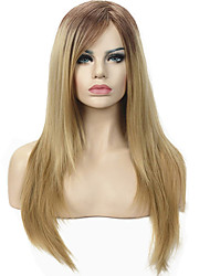 cheap -Women's Ombre Two tone Strawberry Blonde Wig 24 inch Long Straight wig