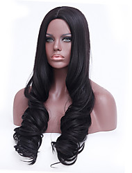cheap -Synthetic Wigs Long Black Body Wave Heat Resistant Wig For Women