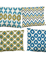 "Set of 4 Scandinavian Geometric Printed Throw Pillowcases Linen Creative Decoration (18""*18"")"