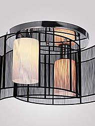 cheap -Flush Mount ,  Modern/Contemporary Chrome Feature for LED Metal Living Room Bedroom Study Room/Office Kids Room Hallway
