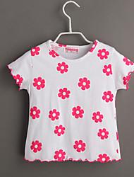 T-shirt Bambino Casual Fantasia floreale-Cotone-Estate-Bianco