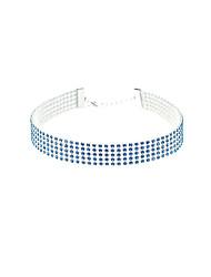 Недорогие -Ожерелья-бархатки дешево Мода Стразы Белый Цвет радуги Светло-синий Ожерелье Бижутерия Назначение Свадьба Для вечеринок Повседневные