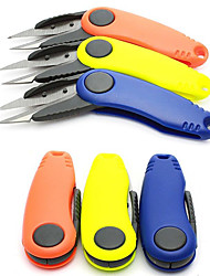 Foldable Scissors Razor Shears Trim Snips Knives Sewing Fish Line String Cutter Hook Removal Tool Random Color  Hunting Camping