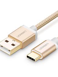 preiswerte -USB 2.0 / Typ-C USB-Kabeladapter Geflochten Kabel Für Samsung / Huawei / LG 100 cm Für Nylon