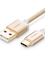 USB 2.0 Type-C USB Cable Adapter Braided Cable For Samsung Huawei LG Nokia Lenovo Motorola Xiaomi HTC Sony 100 cm Nylon