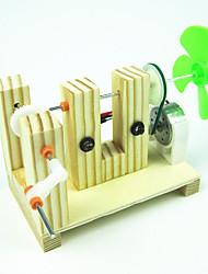 abordables -Moulin à vent Créatif A Faire Soi-Même Bois Plastique Métal Cadeau 1pcs