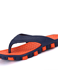 Men's Shoes Rubber Summer Toe Ring Slippers & Flip-Flops For Casual Orange Gray Red Green