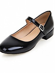cheap -Women's Shoes Leatherette PU Spring Summer Comfort Novelty Flats Walking Shoes Flat Heel Round Toe Buckle for Wedding Casual Party &