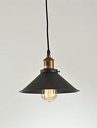 abordables -max 60 w vintage pendentif lumières loft noir ombre métallique salle à manger pendentif lumières cuisine bar luminaire