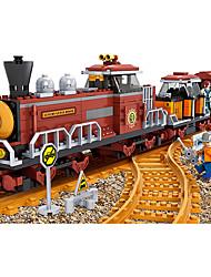 Недорогие -AUSINI Конструкторы 662 pcs Шлейф Cool Оригинальные Электрический Поезд Поезда и наборы железной дороги Мальчики Игрушки Подарок