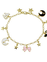 cheap -Charm Bracelet Alloy Friendship Fashion Jewelry Black Pink Jewelry 1pc