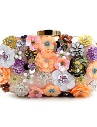 Femme Sacs Printemps Eté Automne Hiver Toutes les Saisons Polyester Sac de soirée Imitation Perle Cristal / strass Fleur pour Mariage