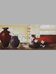 IARTS®Hand Painted Oil Painting Bottle & Flower with Stretched Frame