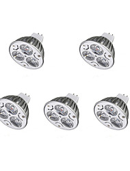 cheap -5pcs 3W 300-400 lm LED Spotlight MR16 3 leds Warm White Cold White DC 12V
