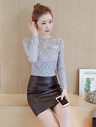 abordables -Mujer Moderno Camiseta Color sólido / Verano / Otoño
