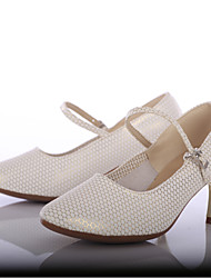 cheap -Women's Modern Leatherette Heel Outdoor Customized Heel Gold Customizable