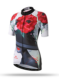 cheap -XINTOWN Cycling Jersey Women's Short Sleeves Bike Top Quick Dry Breathable Back Pocket Sweat-wicking Comfortable Terylene Spring Summer