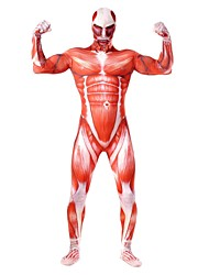 cheap -Super Heroes Soldier/Warrior Cosplay Costume Movie Cosplay Red Leotard/Onesie Zentai Catsuit Halloween Carnival New Year Spandex Spandex