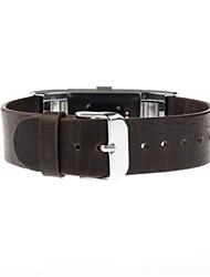 abordables -para la carga de Fitbit 2 de cuero pulsera de cuero correa de banda braclet