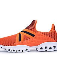 cheap -Men's Sneakers Spring Fall Couple Shoes PU Casual Flat Heel Gore White Black Orange Running