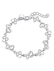 Недорогие -Женский Браслеты с подвесками бижутерия Мода Pоскошные ювелирные изделия Серебрянное покрытие Искусственный бриллиант Бижутерия Назначение