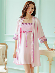 economico -pigiama due pezzi in pizzo babay bambola da donna con vestibilità comoda rosa arancio viola