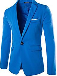 cheap -Men's Basic Blazer-Solid Colored