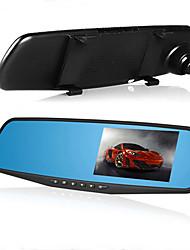Rückrecorder-Recorder Doppelobjektiv-Video Registrator g-Sensor hd dash Nocken Auto-Kamera Auto DVR 4,3 Zoll 1080p Auto-Spiegel