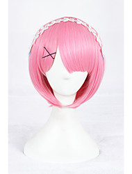 cheap -14Inches Short Pink Life in a Different World From Zero Lahm Anime Cosplay Wigs CS-288C