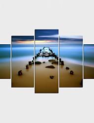 economico -Stampe a tela Paesaggi Stile Modern,Cinque Pannelli Tela Qualsiasi forma Stampa artistica Decorazioni da parete For Decorazioni per la