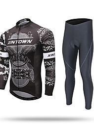Недорогие -XINTOWN Велокофты и лосины Муж. Длинные рукава Велоспорт Брюки Спортивный костюм Куртка на молнии Джерси Верхняя часть Нижняя часть