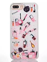 Недорогие -Назначение iPhone 8 iPhone 8 Plus Чехлы панели Движущаяся жидкость Полупрозрачный Задняя крышка Кейс для Соблазнительная девушка Твердый