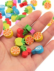 50pcs Pack Various Cute Fruits Pattern Student Erasers