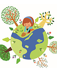 Wall Stickers Wall Decals Style Earth PVC Wall Stickers