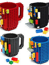 Drinkware Building Blocks Mugs DIY Block Puzzle Mug Caneca Build-On Brick Cup Type Coffee Mug