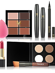 New Women Value Pack Makeup Set Gift Gel Eyeliner Eye Liner Pen Eyebrow Pencil Sexy Lipstick  Mascara Tool Kit