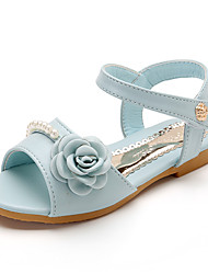 abordables -Fille Chaussures Cuir / Polyuréthane Printemps été Confort Ballerines pour Beige / Rose / Bleu clair
