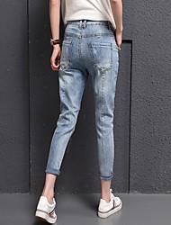 segno dei jeans pantaloni femminili bf sciolto è stato pantaloni stretch sottile harem pants piedi collant