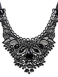 cheap -Luxury Tassels Euramerican Statement Jewelry Fashion European Collar Necklace Statement Necklace Synthetic Gemstones Lace Resin Collar