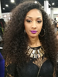 cheap -Women Human Hair Lace Wig Brazilian Human Hair 360 Frontal 150% Density With Baby Hair 360 Frontal Natural Wave Kinky Curly Wig Black