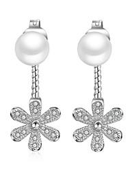 Perle finte Orecchini a bottone Gioielli Matrimonio Feste Quotidiano Casual Perle finte 1 paio Argento